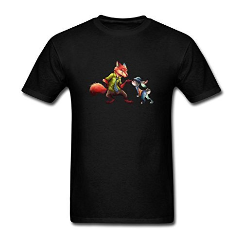 Bont Nick and Judy In Zootopia Men T-shirt