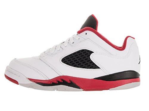the best attitude 36b85 9523d Nike Jungen Jordan 5 Retro Low (Ps) Basketball Turnschuhe Weiß   Rot (White  ...