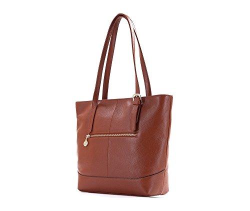 Wittchen Elegance Ledertasche | Farbe: Braun | Material: Narbenleder | Höhe (cm): 30 - Breite (cm): 36 | Sammlung: Elegance | 83-4E-495-5 Braun