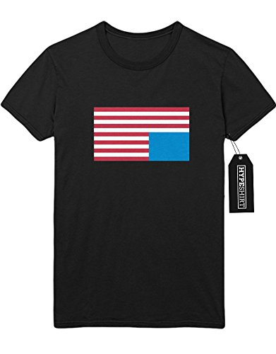 T-Shirt House of Cards America Flag H549341 Schwarz M