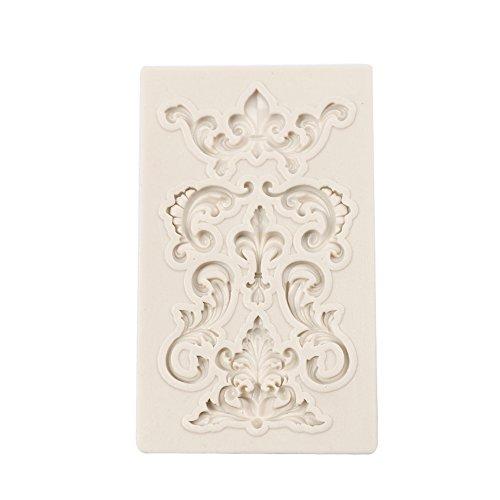 Molde para tartas en relieve con forma de patrón creativo de silicona molde DIY decoración 3D fondant...