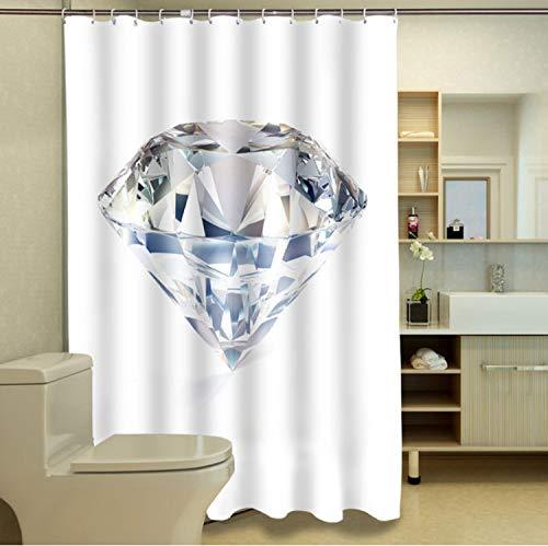 Duschvorhänge 3D South African Big Diamond Muster Wasserdichtes Gewebe Bad Vorhänge Waschbar Bad Vorhang Bad Produkte 90 (B) X 180 (H) cm