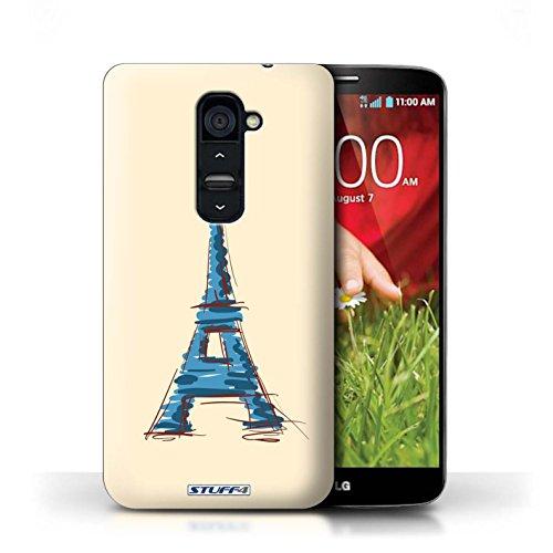 Kobalt® Imprimé Etui / Coque pour LG G2 / Taj Mahal/Indie conception / Série Monuments Tour Eiffel / Paris