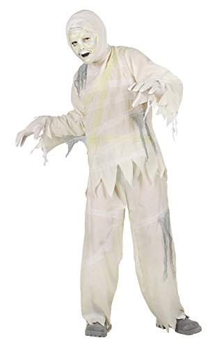 Widmann 72967 - Kinderkostüm Mumie mit Maske und Handschuhen, Größe (Mädchen Kostüme Mumie Erwachsene)