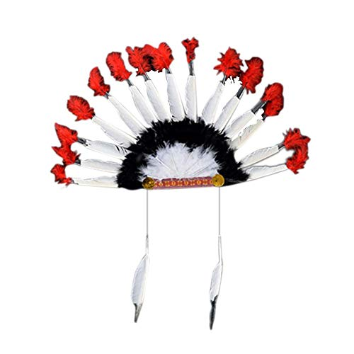 Kostüm Der Indischen Braut - Welltobuy 1PC / Set Indianer Kopfschmuck FederschmuckIndian Kopfschmuck