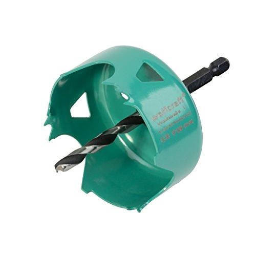 Wolfcraft 5968000 Carbonstahl-Lochsäge Ø 68 mm, grün,