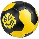 BVB Merchandising- BVB-Knautschball Pelota de fútbol, Color 00 Negro y Amarillo, Medium (BVBMH 12500500)
