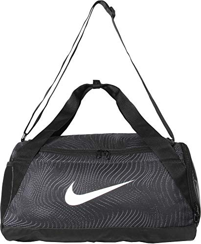 Nike Uni Brasilia Graphic Trainingstasche (klein), Black/White, S