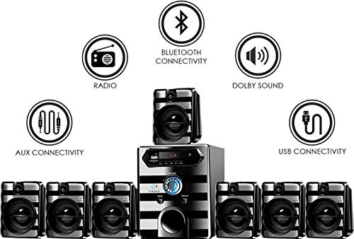 I KALL 7.1 Channel IK-8888 Home Theater System (Black)