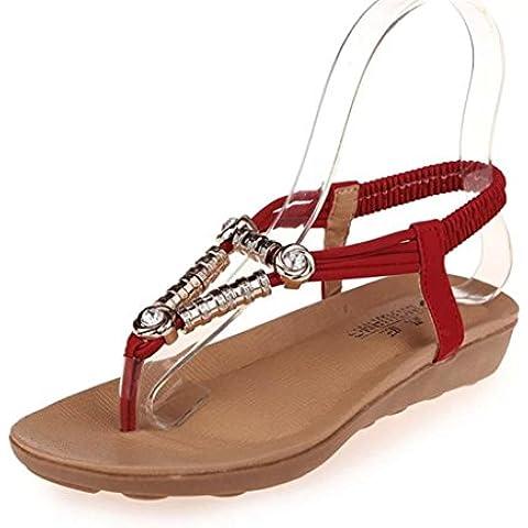 Fortan Boemia dolce estate in rilievo dei sandali della punta