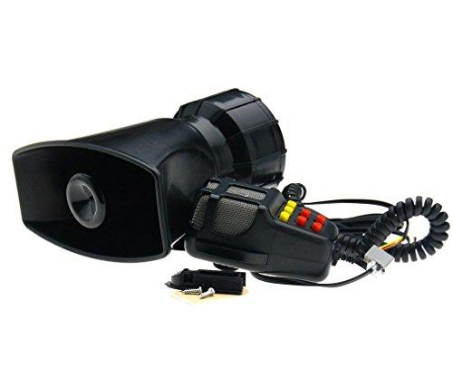 12 V Laute Sirenenhupe für Auto, Boot, Lieferwagen, LKW, 7-Ton PA-System mit Mikrofon 115dB