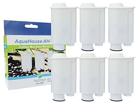 6x AH-CBIP Kompatibel Wasserfilter Patronen für Saeco Phillips Intenza+ Lavazza Gaggia Kaffeemaschinen Espressomaschine A Modo Mio Saeco