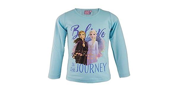 Elsa e Anna Disney Frozen Movie II Maglia Maglietta T-Shirt a Maniche Lunghe Bambina 157