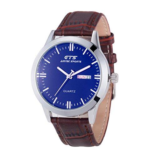 Preisvergleich Produktbild Sansee Herren Business Ledergürtel Kalender Uhren-GTS (braun)