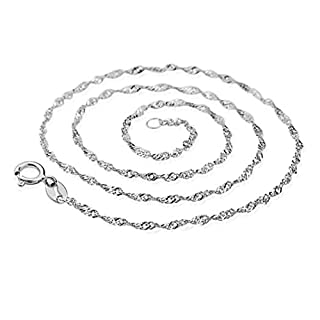 Water Wave Chain,AmaMary88 Fhigh-end Women's Wave Chain Necklace Jewelry Vintage Bling jewelry Silver Jewelry Top 18 inch (1 pcs)