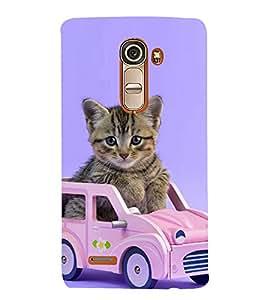 Print Masti Designer Back Case Cover for LG G4 Mini :: LG G4c :: LG G4c H525N (Loveable Cat Pink Blue Background )