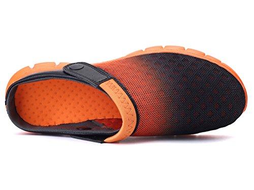 Preto Tamancos Os De Verão Sapatos De Muffins Mulas Arrasto Unissex Baixo Chinelos Todos Para Dias Chinelos Laranja Praia wqwfr4a
