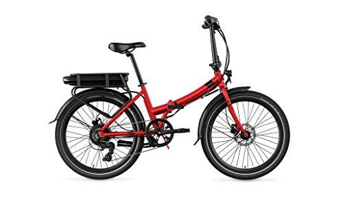 Legend eBikes Siena Smart 10,4Ah Bicicleta eléctrica Plegable Inteligente, Adultos Unisex, Rojo Strawberry, Batería 36V 10.4Ah (374.4Wh)