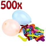 Belmalia 500x Wasser-Bomben Mega-Pack Bunte Neon Wasserballons Rot Gelb Lila...
