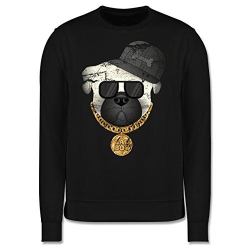 Hunde - Bad Boy Mops Vintage - Herren Premium Pullover Schwarz