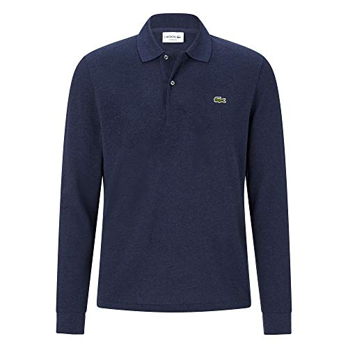 Lacoste L1313 Herren Polo Shirt Langarm,Männer Polo-Hemd,2 Knopf,Regular Fit,Lilium Chine(9N0),Small (3)
