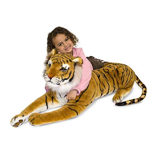 Melissa & Doug - Tigre de peluche gigante (12103) , Modelos/colores Surtidos, 1 Unidad