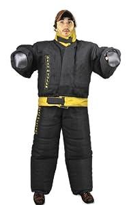 Costume de protection complet contre les morsures, lin français solide - Noir/jaune - Taille: moyen (H: 178 cm à 188 cm, P: 79 kg à 85 kg)