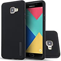Galaxy A3 (2016) Coque, HICASER Anti-choc Silicone Dual Layer Hybride Case TPU et PC [Full-Body] Protection Etui pour Samsung Galaxy A3 2016 A310 Noir