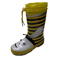 Kids Boys Girls BUMBLE BEE Waterproof Snow Rain Wellies Fashion Wellington Boots