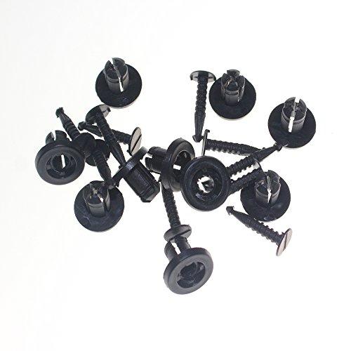 Muchkey 7703072360 clips for Renault Clio Megane Laguna Twingo Rivets Plastiques Bouclier Garnissages Habillages Passage de Roues black 10pcs
