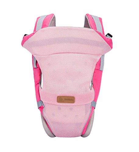 YOUJIA Babytrage als Bauchtrage, Rückentrage und Hüfttrage für Neugeborene Baby (Pink)