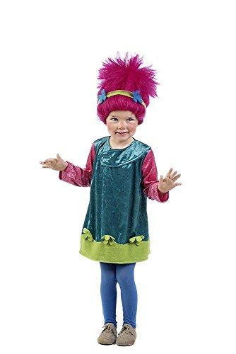 Imagen de disfraz de troll para niña  único, 5 a 7 años