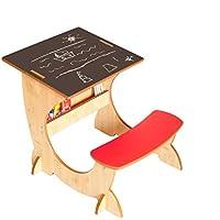 Preisvergleich für Little Helper ASI01-2 - 4-in-1 Holz Art Station Kinder Schreibtisch mit Kreidetafel und Staffelei, Rot