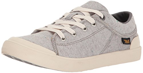 Teva Womens Women's W Freewheel Slubby Canvas Sneaker, Dark Grey Multi