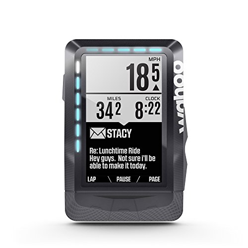WahooFitness Elemnt GPS sans Fil Ordinateur de Bord pour vélo Noir avec écran 2,7\