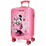 Valise cabine 4 roues 55cm JOUMMA MINNIE STICKERS