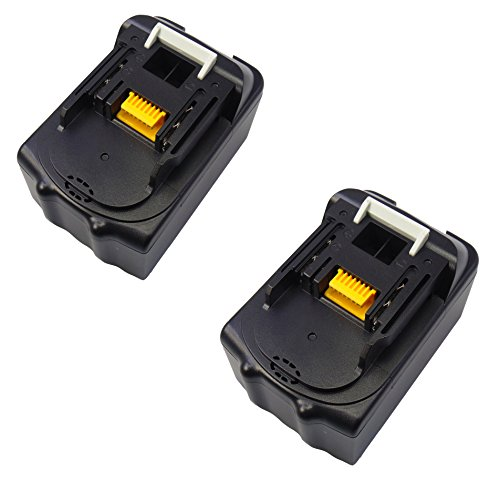 2 PCS 18V 5.0Ah Batteria per attrezzi per Makita BL1840B BL1850 196672-8 BL1830 per DHP482Z HP331DZ DHP453Z DHP458Z Smerigliatrice angolare per aspirapolvere per aspira motosega