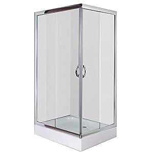 Cabine douche rectangulaire 100 x 80 cm cuisine maison - Cabine de douche 70 cm ...