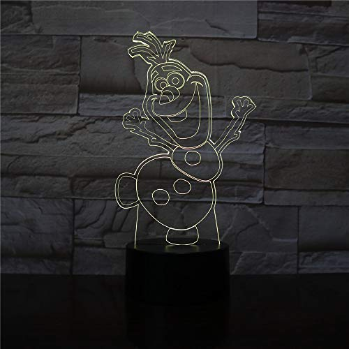 Schneemann Olaf Nachtlicht Kinderzimmer Dekoration Batterie betrieben Atmosphäre schöne 3d Nachtlicht gefroren Phantasie Baby LED Nachtlicht