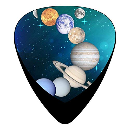 Nine Planets Art Fender Celluloid Guitar Picks 3D Printed 12 Pack Thin Medium Heavy Gauges For Boyfriend