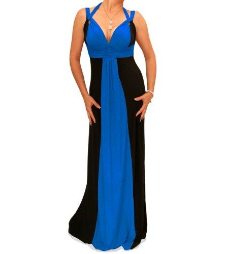 Blue Banana - Longue robe de soirée Noir et Bleu