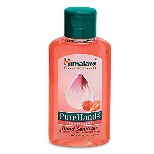Himalaya Herbals Pure Hands Hand Sanitizer - 100 ml (Strawberry)