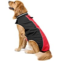 Ropa para mascotas,RETUROM Impermeable mascota perro grande cachorro chaleco ropa abrigo