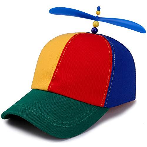 Jungen Kostüm Für Fischer - WEY Kinder Caps, Baseball Cap Sonnenhut, Creative Propeller Einstellbare Freizeit Sport Hut,Bild,Einstellbar