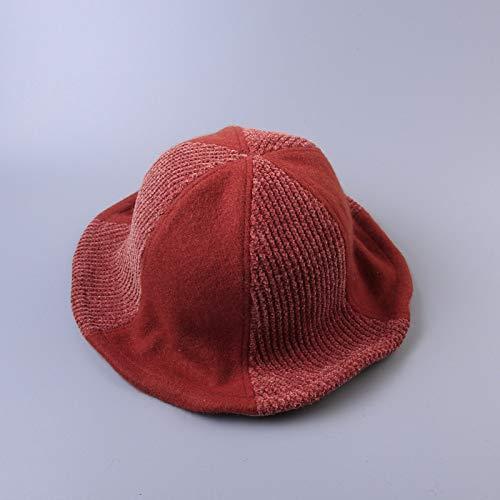 sdssup Cappello Pescatore Signora Abbinato Colore Cucitura Fronte-Retro Cappello Grande Bacino Bacino codice Giallo Arancio