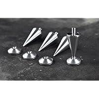 M8 Aluminio puntas / spikes de desacople para altavoces (Conjunto de cuatro)
