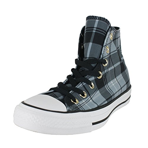 Converse Plaid Sneakers (Converse Women's Chuck Taylor All Star Plaid HIGH TOP Sneaker, Black, 7.5 M US)
