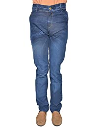 Leo Men's Blue Stretchable Slim Fit Jeans (J8)
