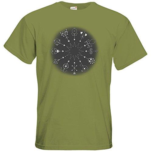 getshirts - Das Schwarze Auge - T-Shirt - Götter und Dämonen - Dämonenkreis Green Moss