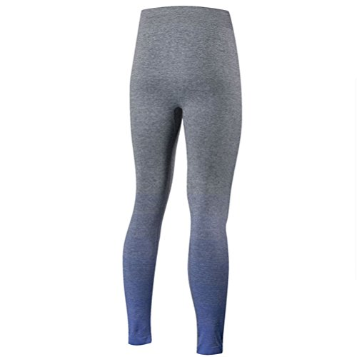 Zhhlaixing Comfortable Women's Sports Gradient color Pants Stretch Tight Yoga Pants blue